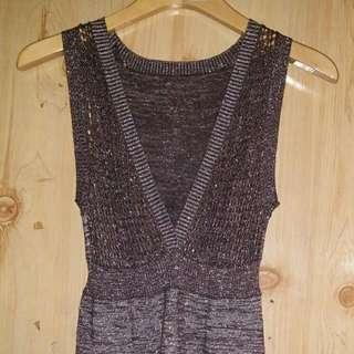 Shimmery Wool Dress
