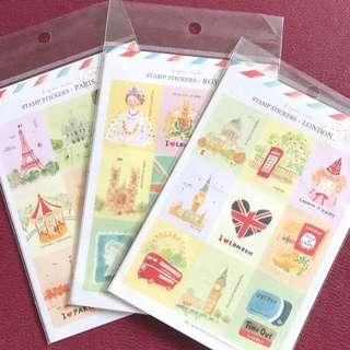 Stamp Stickers - Paris