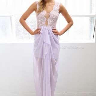 Esther Lavender Lace Dress Bnwt
