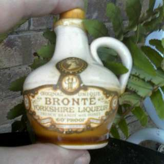 BRONTE YORKSHIRE LIQUOR Miniature 🐝 French Brandy With Honey 60%proof Sealed Collectable.👌