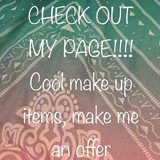 MAKEUPPPPP CHECK OUT MY PAGE!