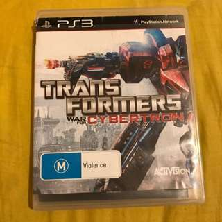 PS3 Transformers War Of Cybertron