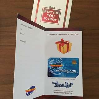 Timezone Gift Card Reloadable