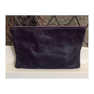 American Apparel Genuine Leather Oversized Clutch