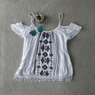 JayJays Embroidered Cotton Top