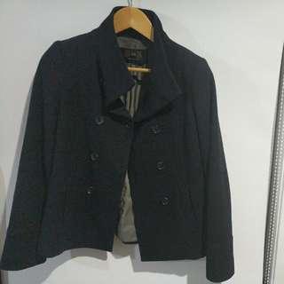 Cue Size 8 Wool Pea Coat
