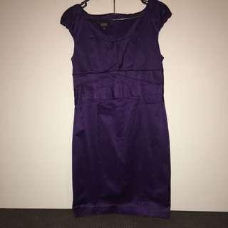 Satin Grape Midi Dress by Events