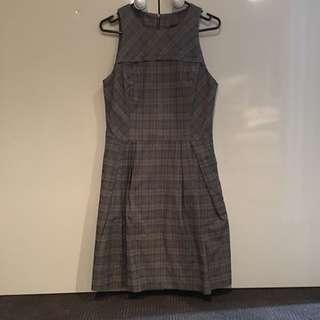 A Line Check Pocket Dress by Cue
