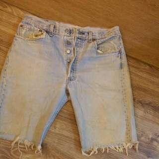 Levi's 牛仔短褲 復古超有型
