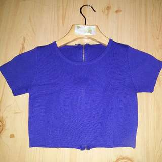 Cropped Top with Back Zipper