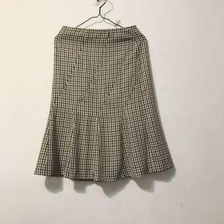 (含運)日本🇯🇵製小格子魚尾裙