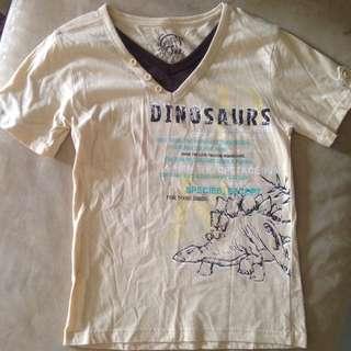 Dinosaurs Comfortable Cotton Boy Tee