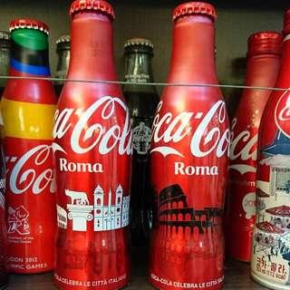 🚚 YUMO家 2016 意大利 羅馬城市紀念瓶 可口可樂
