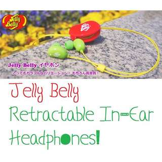 Jelly Belly Retractable In-Ear Headphones