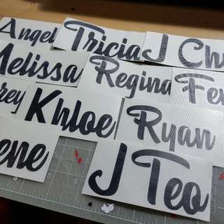 Customised Decal/ Sticker/ Names/laptop