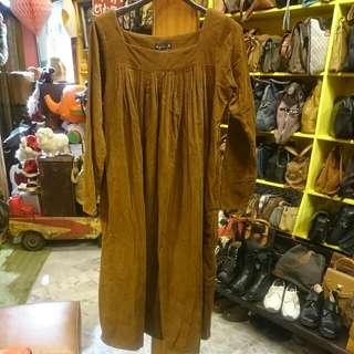 agnes b日本絨布長裙 40號/日本製