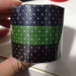 倉敷意匠 和紙膠帶 水玉點點三色一組