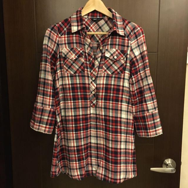 《2手商品》NET ladies 格子法蘭絨襯衫