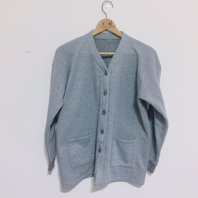 灰色刷毛外套