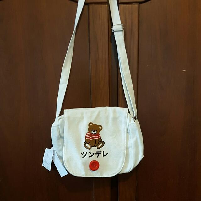 白熊側背包