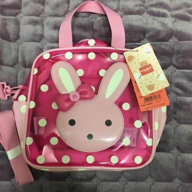 韓-粉色點點兔兔包