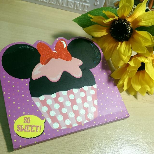 迪士尼造型便條本-米妮杯子蛋糕款