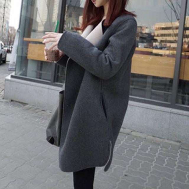 韓版毛呢大衣✨