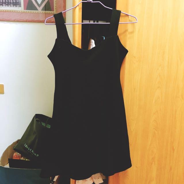 黑色背心裙