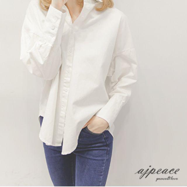 簡約基本款純白襯衫