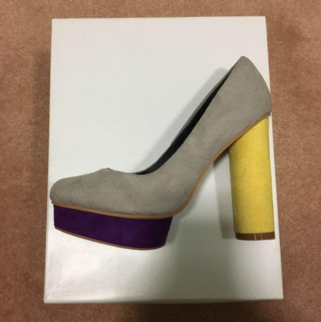 ASOS Colour Block Suede Heels Size 5