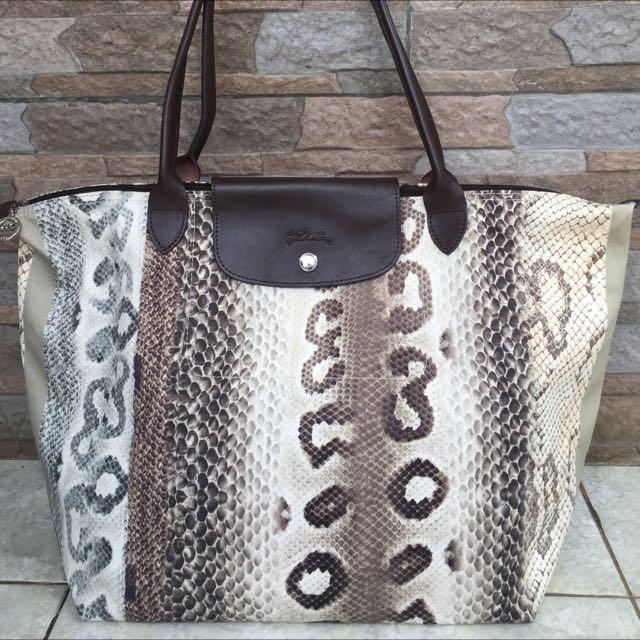 Authentic Longchamp Snake Skin Pattern