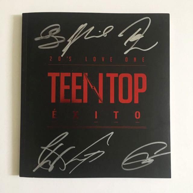 AUTOGRAPHED ÉXITO Teen Top Album