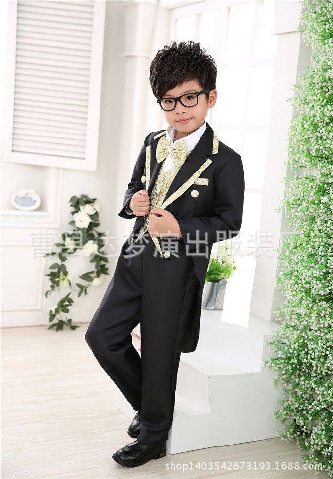 boys dress suit summer tuxedo white children Wedding Flowers
