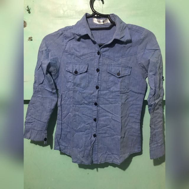 Button Down Long-sleeved Polo