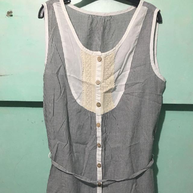 Button-down Shift Dress