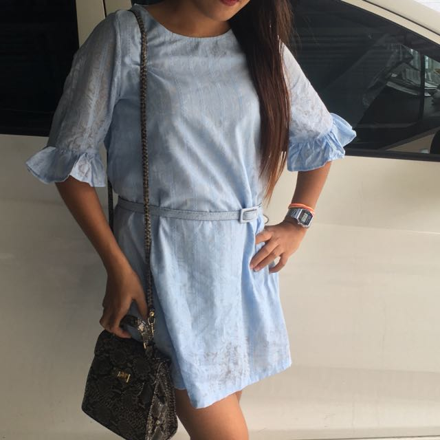 Candies Powder Blue Bell Sleeve Dress
