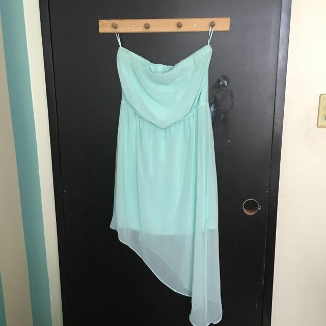 Chiffon Asymmetrical Tube Dress