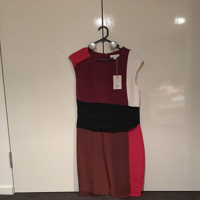 Claret Splice Dress by Country Road BNWT