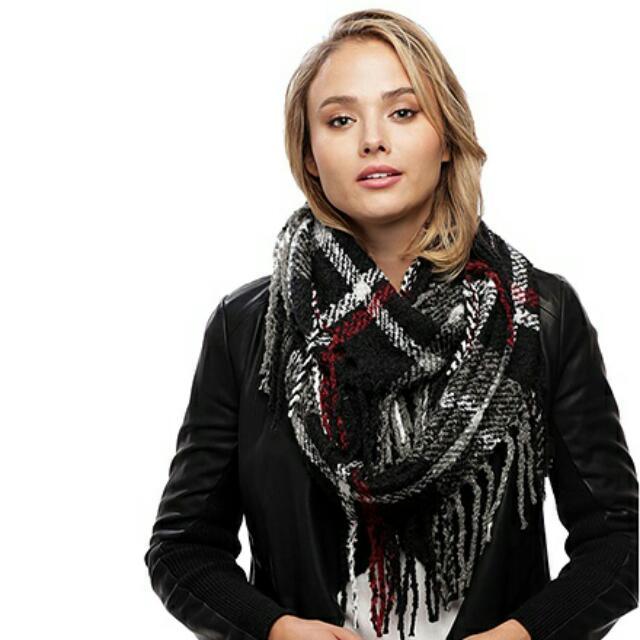 Classic Plaid Infinity scarf
