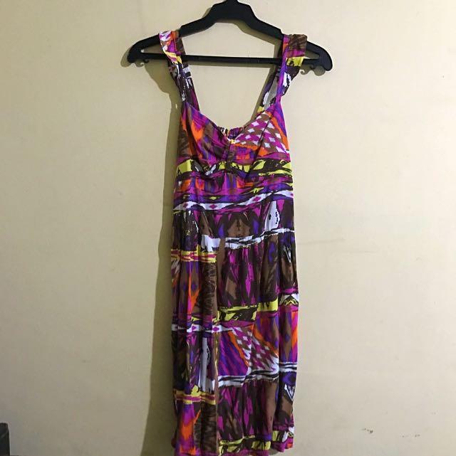 Colorful Sleeveless Dress