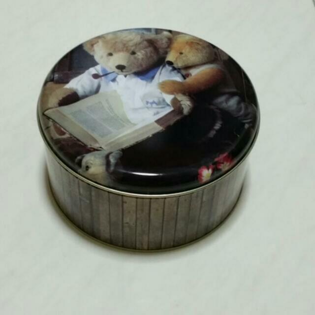 Cute Bear Tin Box