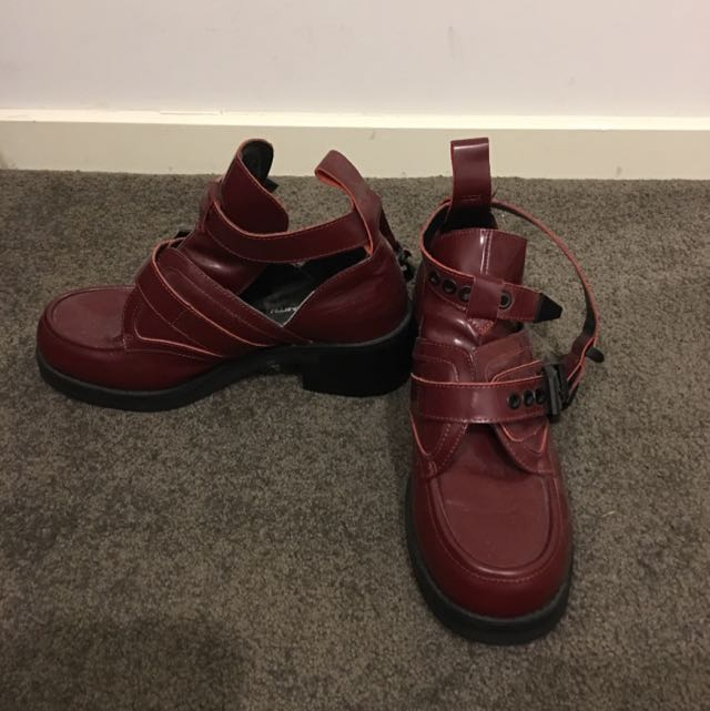 Cute Red Ankle Boots - Brand Windsor Smith