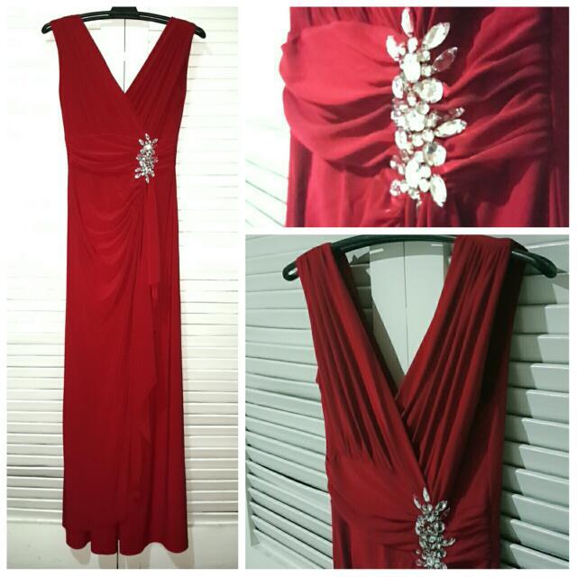 Deep Red Evening Dress