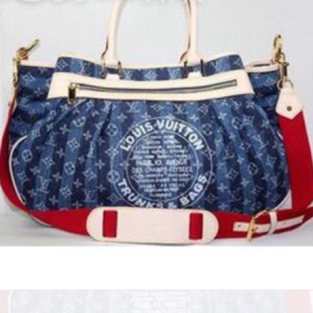 Denim Handbag Designer Louis Vuitton