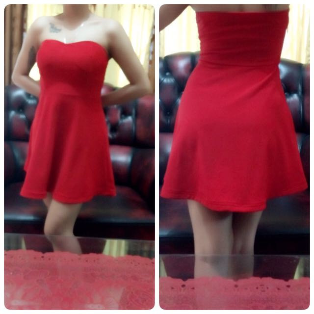 Dress Kemben Merah