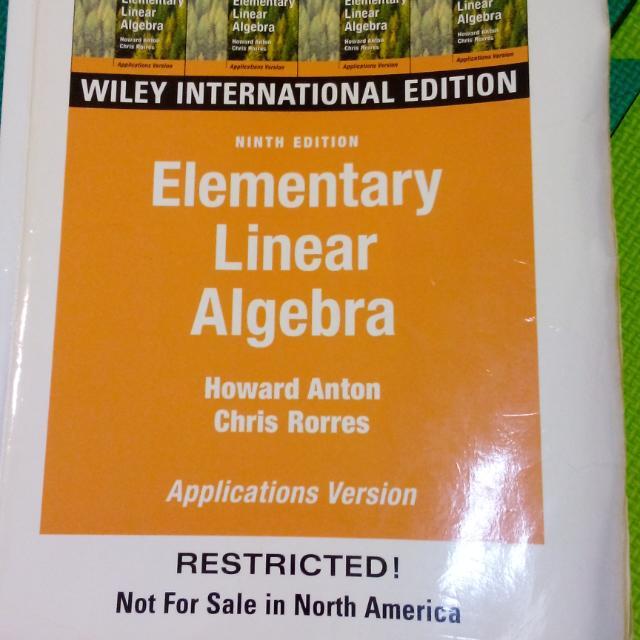 elementary linear algebra 9thhoward anton