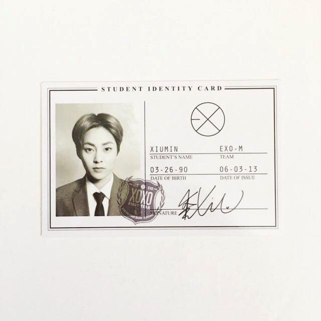 EXO Xiumin 'XOXO' Album Photocard