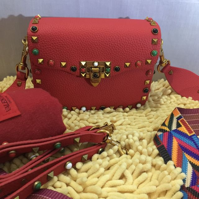 CLEARANCE SALE❗️❗️❗️Valentino Rockstud Double Strap Sling Bag