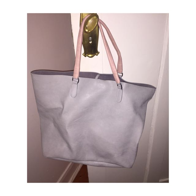 Faux Leather Oversized Bag