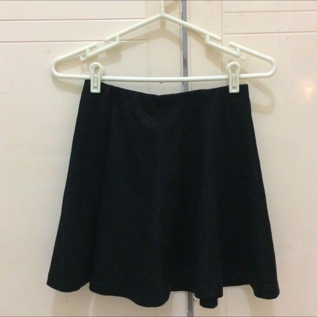 Flare Black Skirt